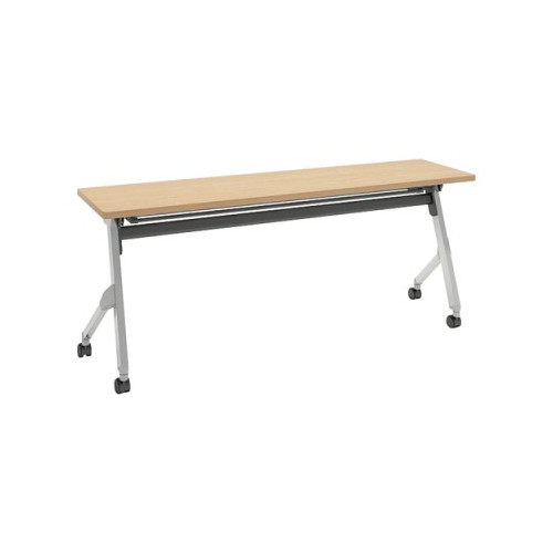 オカムラ フラプターテーブル サイドフォールディングテーブル 棚板付 幕板なし 81F1CX-MK37