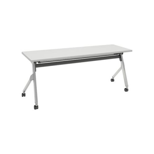 オカムラ フラプターテーブル サイドフォールディングテーブル 棚板付 幕板なし 81F1CY-MG99