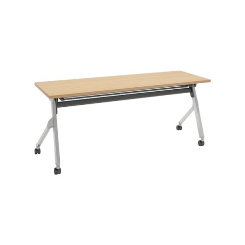 オカムラ フラプターテーブル サイドフォールディングテーブル 棚板付 幕板なし 81F1CY-MK37