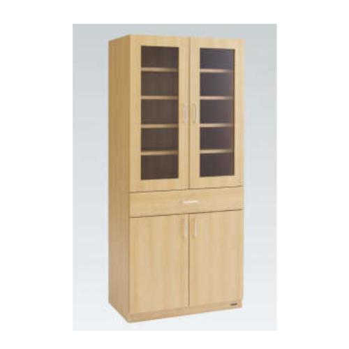 オカムラ 木製カップケース (開き戸) L859CB-ML17