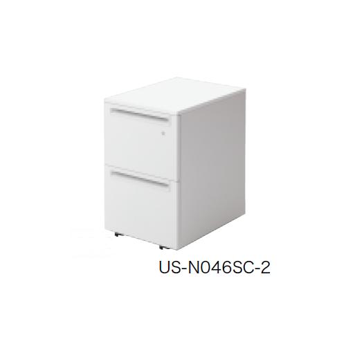 プラス US-1 サイドキャビネット ワゴン 2段 US-046SC-A2 779-419