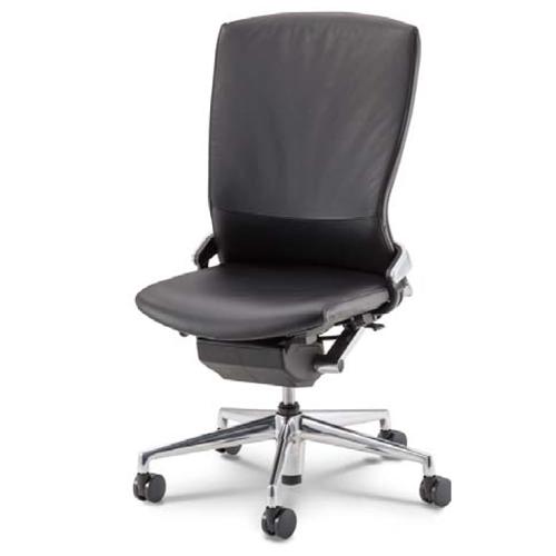 ウチダ オフィスチェア Pulse パルスチェア 本革張り背樹脂カバータイプ 肘なし PA-900L 5-346-9010