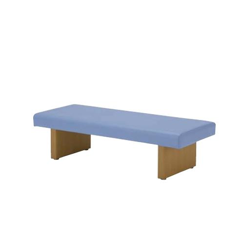 ナイキ ロビーシリーズ ロビーチェアー 木目シート張り脚 背なし ビニールレザー張り W1510×D580×H405 RC150-57-※