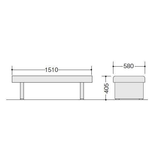 ロビーチェアー RC150-57 サイズ