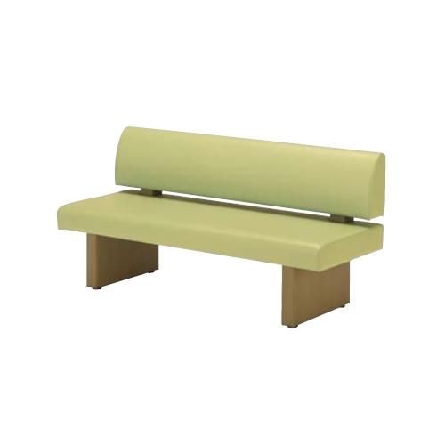 ナイキ ロビーシリーズ ロビーチェアー 木目シート張り脚 背付 ビニールレザー張り W1510×D580×H745 RC150-57S-※
