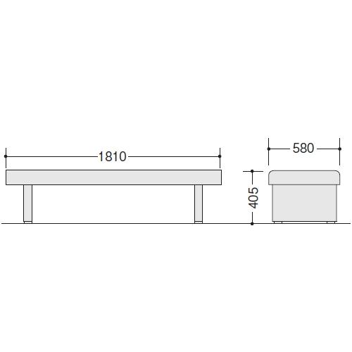ロビーチェアー RC180-57 サイズ
