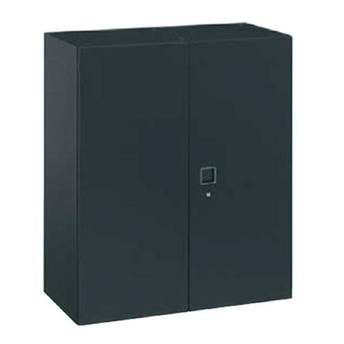 オカムラ okamura レクトライン ブラックタイプ 両開き書庫 上置き・下置き用 W900D450H1050  4B33ZF-ZH25