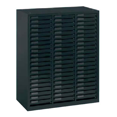 岡村製作所 オカムラ レクトライン ブラックタイプ クリスタルケースA4浅型 下置き用(ベース付) W900D450H1100  4B03AS-ZH25