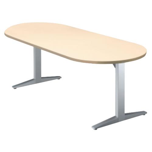 プラス STAGEO ステージオ テーブル(ボート長円形)ミーティングテーブル W1800×D900×H720 ST-180TO