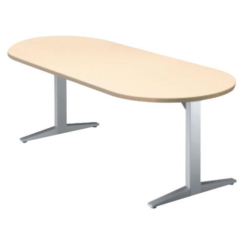 プラス STAGEO ステージオ テーブル(ボート長円形)ミーティングテーブル W2100×D900×H720 ST-210TO