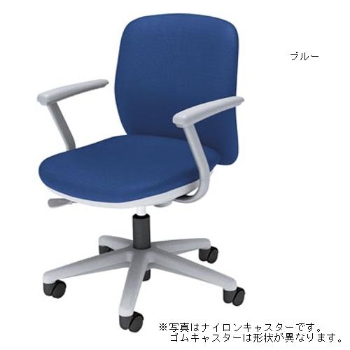 ウチダ オフィスチェア Anyza エニーザチェア クロスタイプ L型肘付 デザインゴムキャスター AF-115W 5-301-115