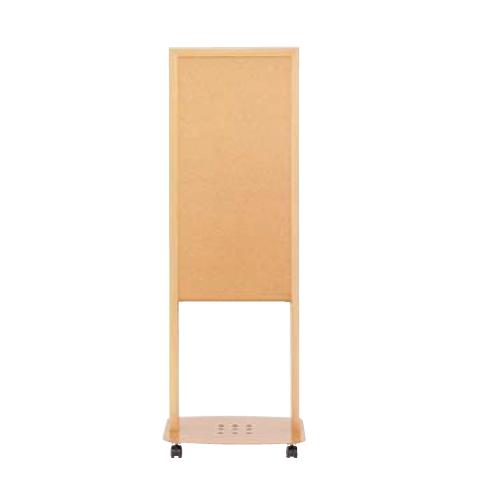 ウチダ 木目フレーム案内板/片面ホワイトボード W500×D400×H1430 6-190-2550
