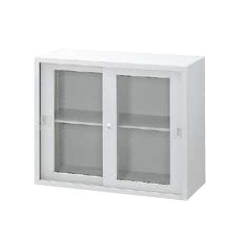 ウチダ A4判書庫 上置き07型ガラス引き違い書庫 シリンダー錠 W900×D400×H730 棚板1枚 5-847-3004