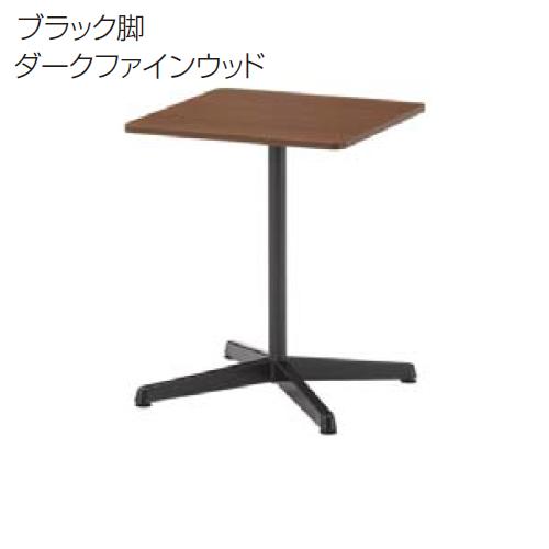 ウチダ FT-1600 MTGテーブル 十字脚固定天板 スクエアテーブル AJ脚 シルバー脚/ブラック脚 X6060A W600D600H720 6-167-290*/6-167-295*