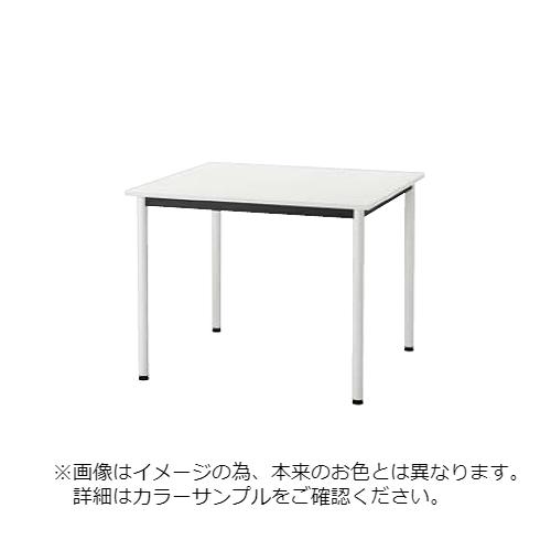 ウチダ ST-1100N ミーティングテーブル Mホワイト天板 4本脚 塗装脚(ホワイト・ブラック)/メッキ脚 6-165-6481/6-165-6581/6-165-6381