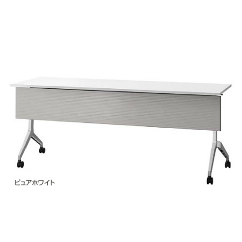 ウチダ ミーティングテーブル パラグラフシリーズ 幕板付 棚板なし 1845M 6-173-4160/6-173-4163