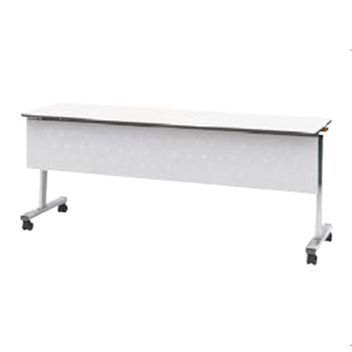 ウチダ ポルカシリーズ サイドスタックテーブル 折りたたみ式 キャスター脚 塗装脚 幕板付 棚板付 polka 1260 MT 6-169-271
