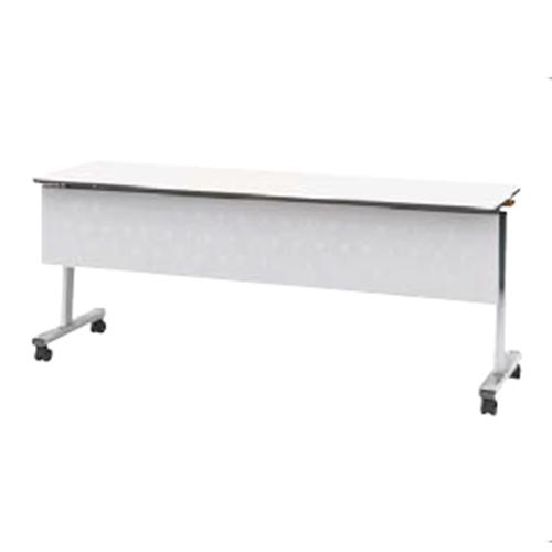ウチダ ポルカシリーズ サイドスタックテーブル 折りたたみ式 キャスター脚 塗装脚 幕板付 棚板付 polka 1245 MT 6-169-261