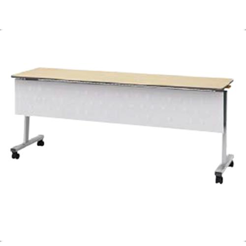 ウチダ ポルカシリーズ サイドスタックテーブル 折りたたみ式 キャスター脚 塗装脚 幕板付 棚板無 polka 1245 M 6-169-161