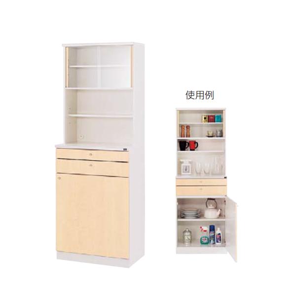 ウチダ 木製ビジネスキッチン MK型 ハイタイプ 標準タイプ MK-26 RM 1-333-4144