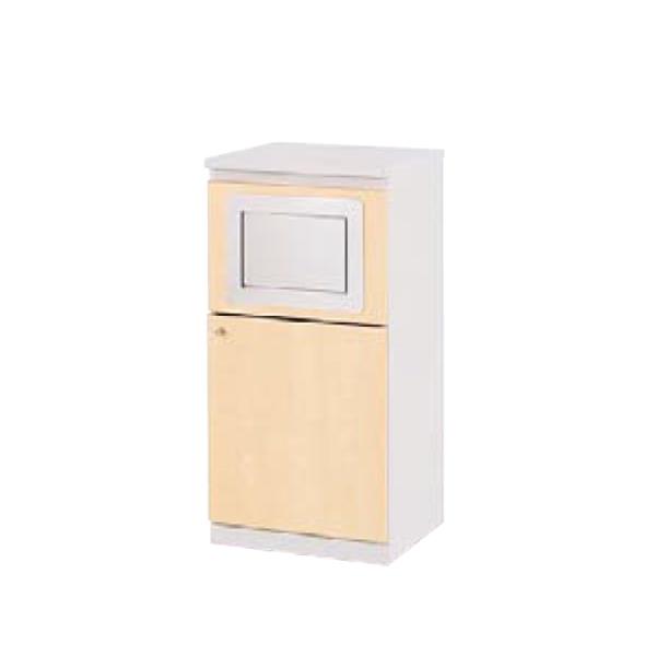 ウチダ 木製ビジネスキッチン MK型 ワゴン MK-ワゴン ダスト用 RM 1-333-4624