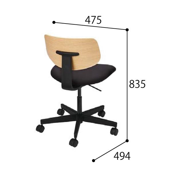 ウチダ オープンコミュニケーションファニチュア MU chair MU-150BS 5本回転脚 座クッション 肘なし 5-342-1501