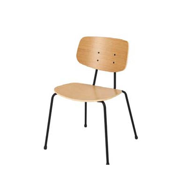 ウチダ オープンコミュニケーションファニチュア MU chair MU-140BN 4本脚 5-342-1400