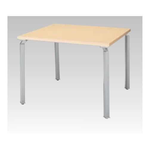 ナイキ NAIKI WAKE ウエイク ミーティングテーブル(WK型) 角パイプ脚 脚シルバー  H700mmタイプ W900×D900×H700 WK0990MT-SVH/WK0990MT-SVS/WK0990MT-SVZ