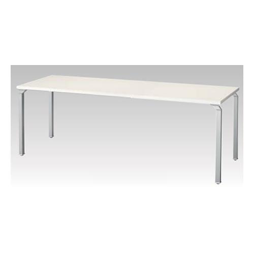 ナイキ NAIKI WAKE ウエイク ミーティングテーブル(WK型) 丸パイプ脚 脚クリアーホワイト H700mmタイプ W1800×D900×H700 WKRL1890MT-WH/WKRL1890MT-WS/WKRL1890MT-WZ