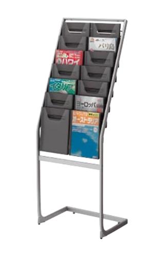 コクヨ KOKUYO パンフレットスタンド パンフレットラック A4サイズトレータイプ 片面 薄型 A4判用・2列7段 ZR-PS202