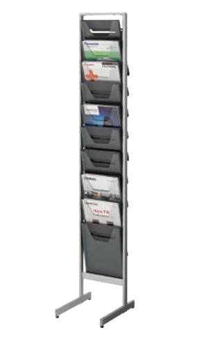 コクヨ KOKUYO パンフレットスタンド パンフレットラック A4サイズトレータイプ 片面 薄型 A4判用・1列10段 ZR-PS301