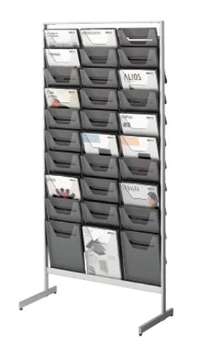コクヨ KOKUYO パンフレットスタンド パンフレットラック A4サイズトレータイプ 片面 薄型 A4判用・3列10段 ZR-PS303