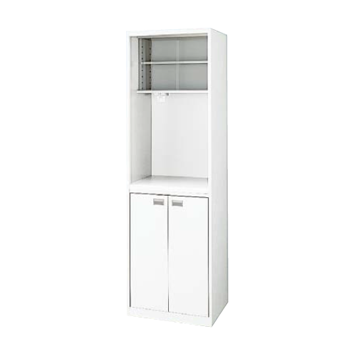 ナイキ オフィスキッチン(ビジネスキッチン)  クリアーホワイト W550×D450×H1810mm OK7-W