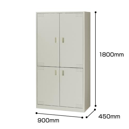 ナイキ オフィスキッチン ウォームホワイト W900×D450×H1800mm OK15-AW