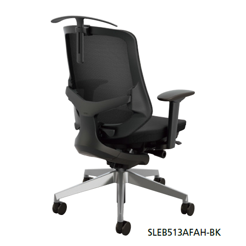 ナイキ セリフト(Selift)チェア (アルミ脚) ミドルバック 座布張り/背メッシュ張り 可動肘 ハンガー付 SLEB513AFAH