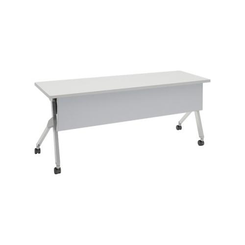 オカムラ フラプターテーブル サイドフォールディングテーブル 棚板付 幕板付 81F1CB-MG99