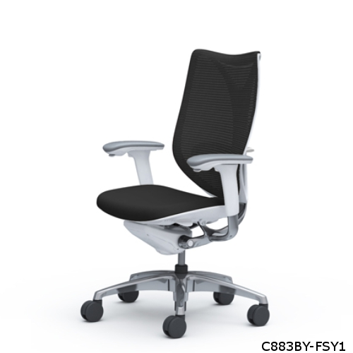 オカムラ サブリナチェア スマートオペレーションタイプ ホワイトボディ ハイバック ハンガー無 ランバー付 C883BY-FSY/C883BY-FSZ