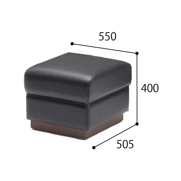ウチダ 応接セット RH-46 チェア RH-466・スツール ブラック 6-260-4660