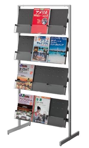 コクヨ KOKUYO パンフレットスタンド パンフレットラック 仕切りフリータイプ 片面3列4段 粉体塗装 ZR-PSS513
