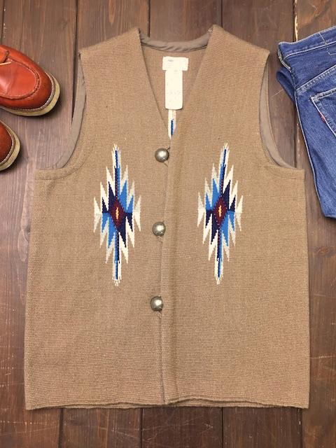 ナンベ・ウィーバー 手織りチマヨ・ベスト NW-V36013 スクエアフロント サイズ36 ダークベージュ