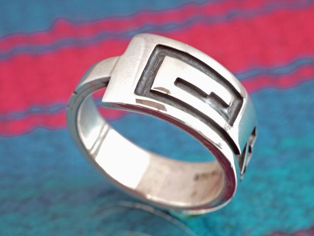 ホピ 21-0288 ベンジャミン・マンスフィールド作 ウォーターシンボル・リング 14.5号