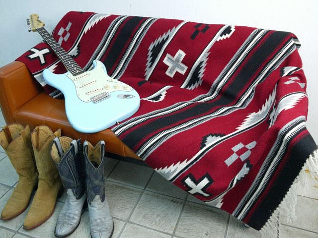 【当店オリジナル】 MK-WORK-094 『ナバホ ガナード&クリスタル ハイブリッドスタイル』ブランケット 1815 x 1070 mm