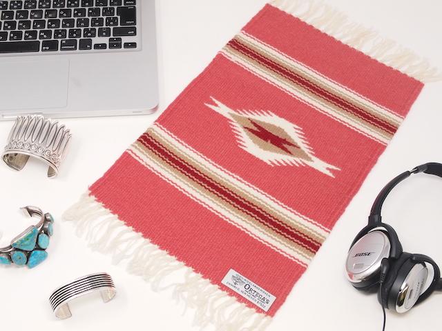 オルテガ 841015-298 手織りチマヨブランケット 25x38cm ブリック(サーモンピンク)