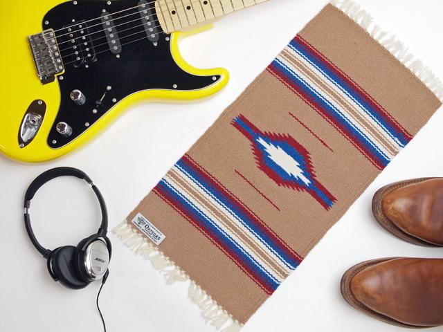 Ortega's オルテガ 841020-144 手織りチマヨブランケット 25x50cm ベージュ