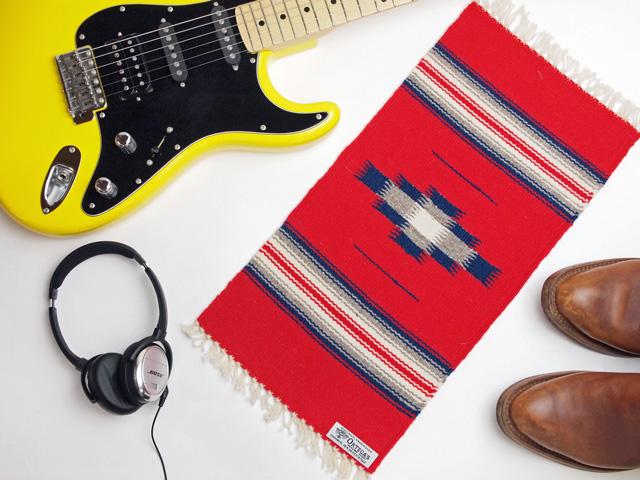 Ortega's オルテガ 841020-150 手織りチマヨブランケット 25x50cm スカーレットレッド