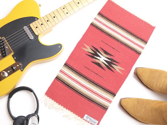 Ortega's オルテガ 841020-163 手織りチマヨブランケット 25x50cm ブリック(サーモンピンク)