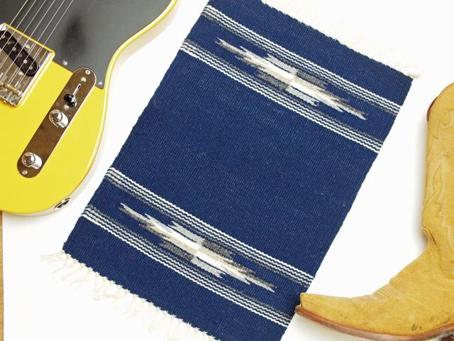 【限定生産カラー】 Ortega's オルテガ 84PM-186 手織りチマヨ・プレイスマット(ランチョンマット) ネイビーブルー