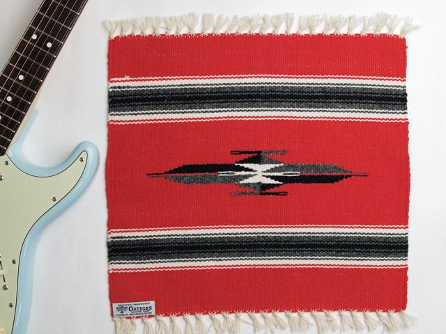 Ortega's オルテガ 841515-098 手織りチマヨブランケット 38x38cm スカーレットレッド