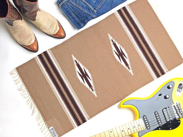 Ortega's オルテガ 841530-141 手織りチマヨブランケット 38x76cm ダークタン