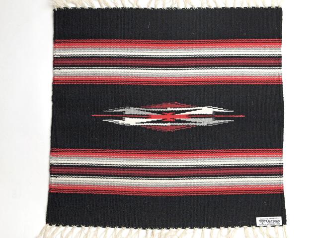 【限定生産カラー】 Ortega's オルテガ 842020-073 手織りチマヨブランケット 50x50cm ブラック